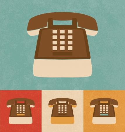 Retro Icons - Telephone Stock Photo - 20327451