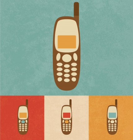 old cell phone: Retro Icons - Mobile Phone