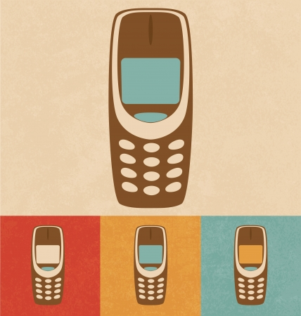 Retro Icons - Mobile Phone Stock Photo - 20327453