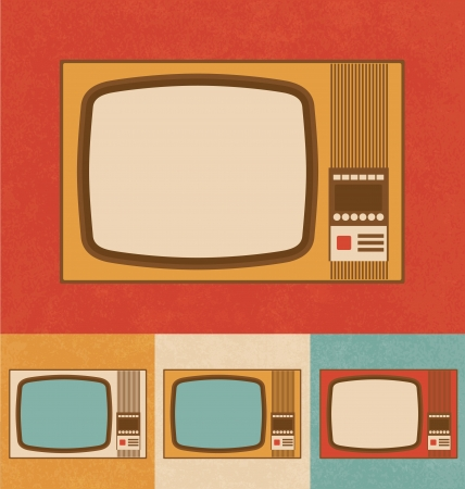 Retro Icons - Old Television Set photo