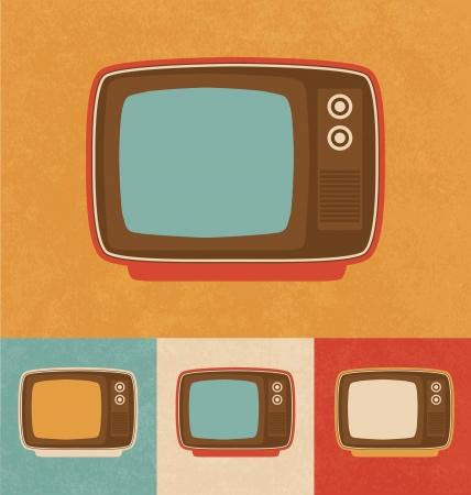 Retro Icons - Small Television Set Stock Photo - 20327471