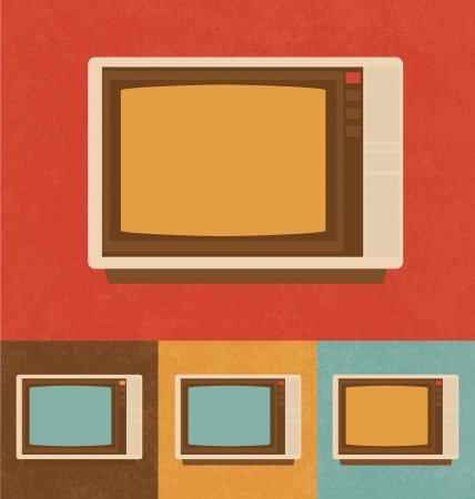 Retro Icons - White Television Set photo