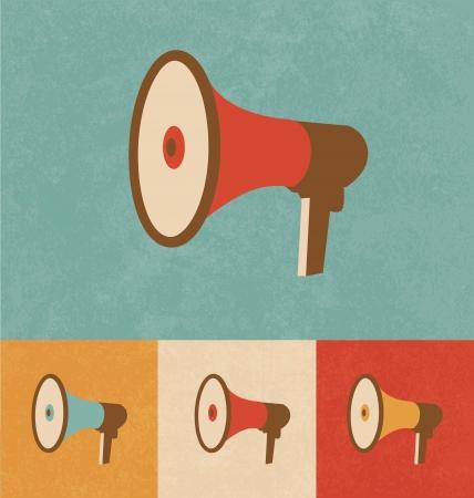 music loudspeaker: Retro Icons - Megaphone