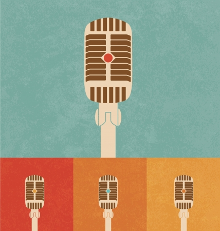 Retro Icons - Microphone Vector