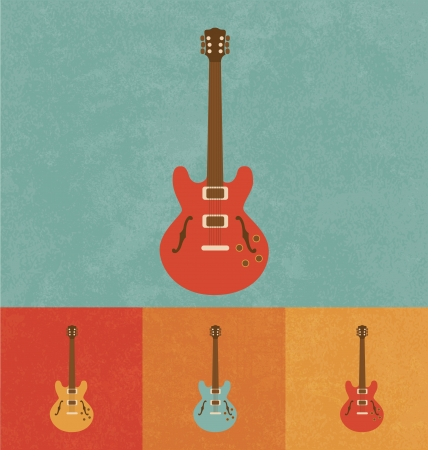 blues music: Retro Icons - Electric Guitar