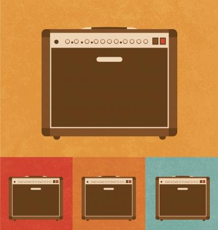Retro Icons - Amplifier Vector