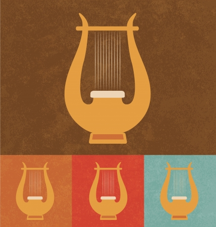 Retro Icons - Small Harp Vector