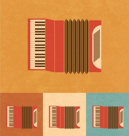 accordion: Retro Icons - Accordion