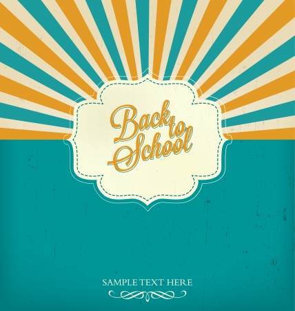 vector school: Back to School Typographic Elements - Vintage Style Back to School and Looking Cool Design Layout In Vector Format