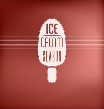Ice Cream Season - Typographic Design Concept Vector