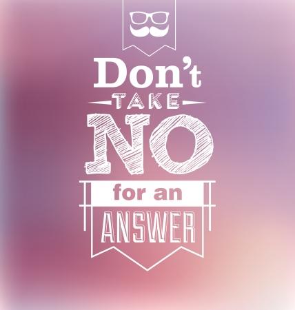 Typografisch ontwerp - Don t nemen niet voor een antwoord