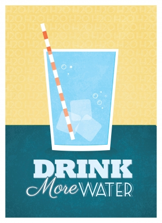 Drink meer water Poster Design Stock Illustratie