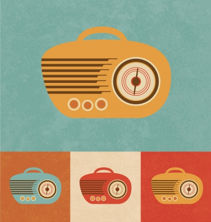 Retro Icons - Hand Radio Vector