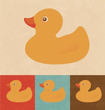 Retro Icons - Rubber Duck Vector