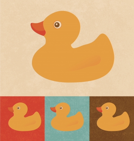 rubber ducky: Retro Icons - Rubber Duck