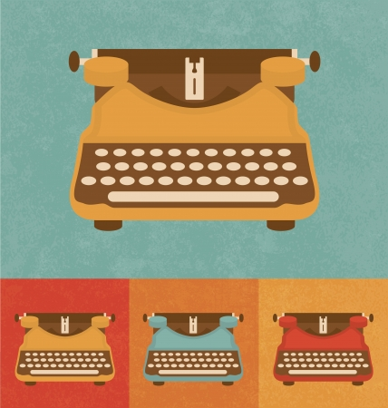 Retro Icons - Vintage Typewriter Vector