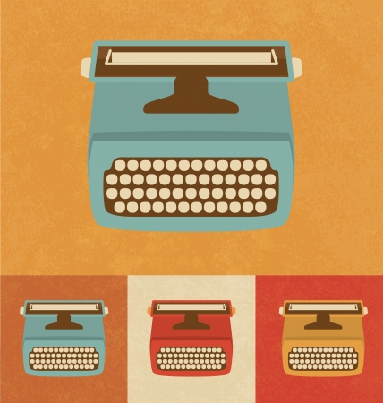 Retro Icons - Typewriter Vector