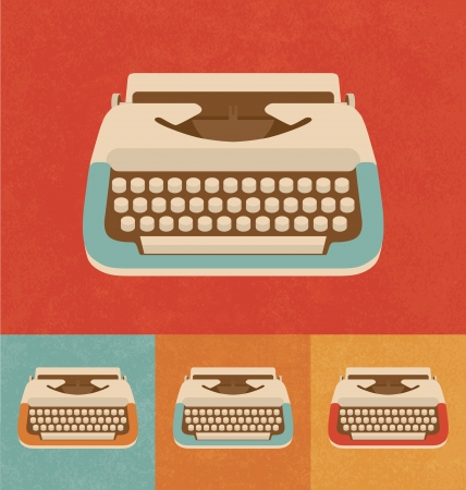 typewriter machine: Retro Icons - Typewriter