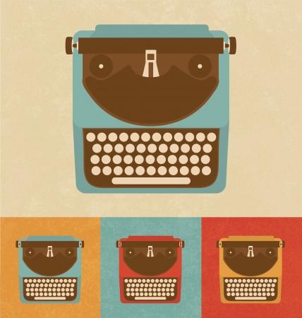 typewriter machine: Retro Icons - Typewriter
