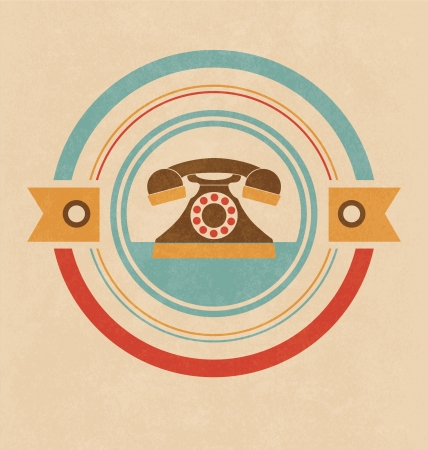 Retro Telephone Design Vector
