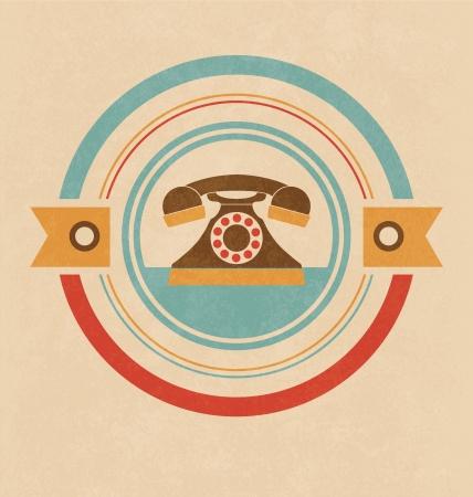 retro telephone: Retro Telephone Design Illustration