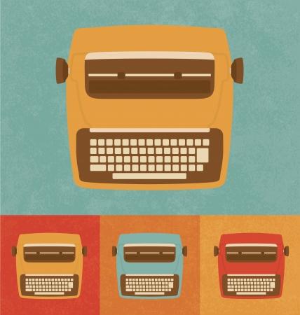 typewriter machine: Retro Icons - Modern Typewriter Illustration