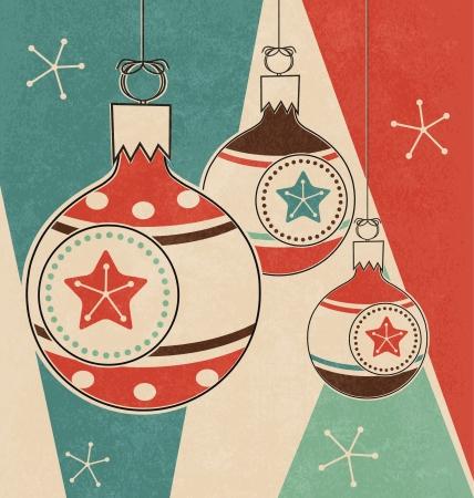 christmas  ornament: Retro Christmas Greeting Design Illustration