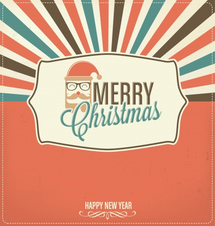 Christmas Greeting Design Vector