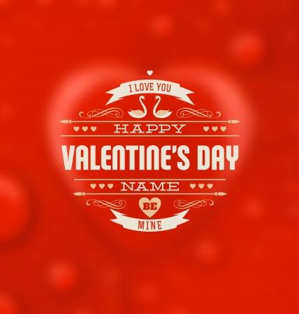Typographic Valentines Design Template
