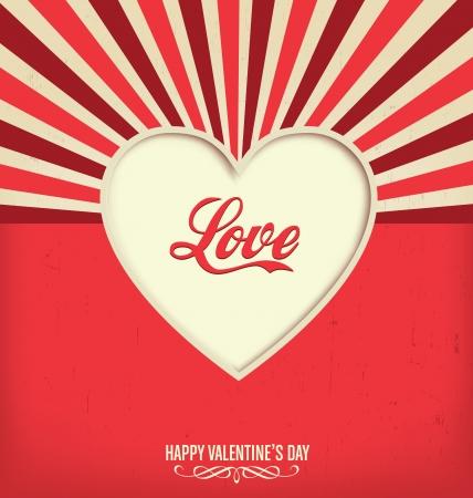 Liefde - Valentijnsdag Design Template Stock Illustratie