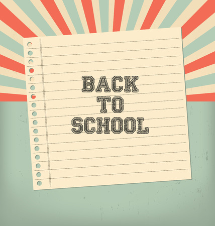 radial background: Vintage Back to School Design