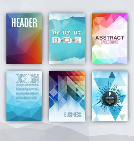 website layout: Flyer Sets - Abstract Backgrounds - Presentation Template - Brochure Print Design Elements Illustration
