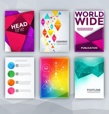 Flyer Sets - Abstract Backgrounds - Presentation Template - Brochure Print Design Elements Vectores