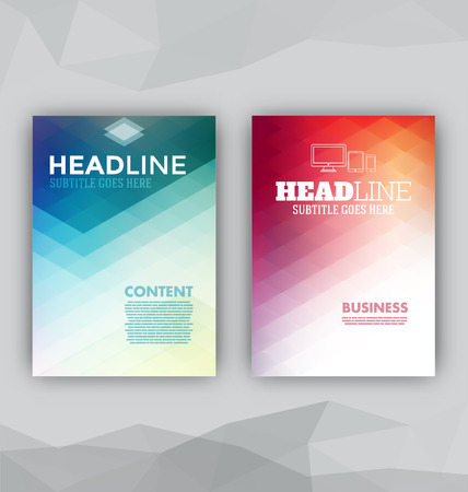 Flyer Sets - Abstract Backgrounds - Presentation Template - Brochure Print Design Elements  イラスト・ベクター素材