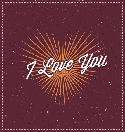 unusual valentine: I love you Typographic Design - Happy Valentines Day