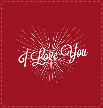 mothers: I love you Typographic Design - Happy Valentines Day