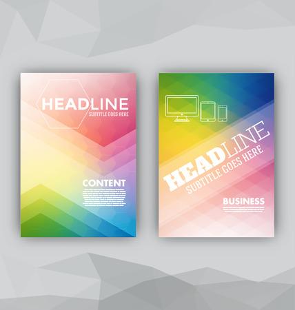 フライヤー セットの抽象的な背景プレゼンテーション テンプレート パンフレット印刷デザイン要素
