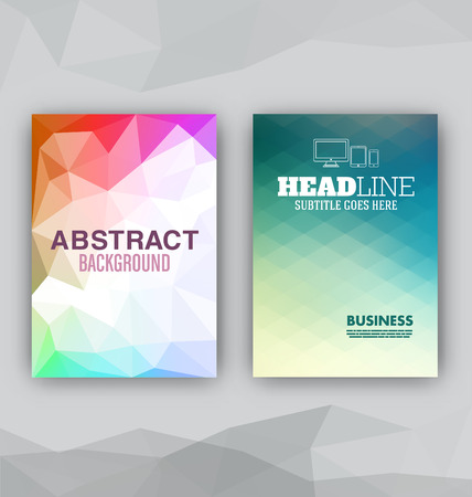 Flyer Set  Abstract Backgrounds  Presentation Template  Brochure Print Design Elements