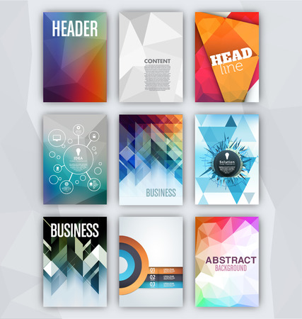 Flyer Sets  Abstract Backgrounds  Presentation Template  Brochure Print Design Elements 向量圖像