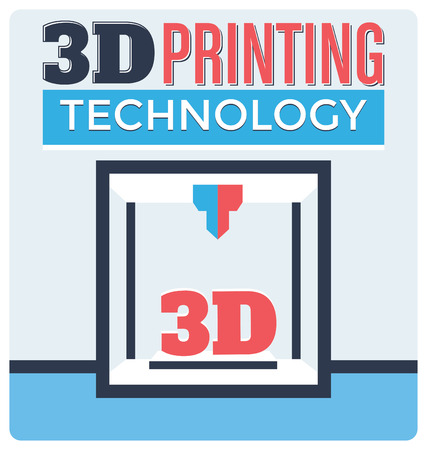 3D Printing Technology Concept Vector