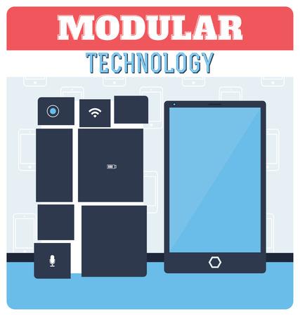 Modular Technology Concept  Smartphone Illustration