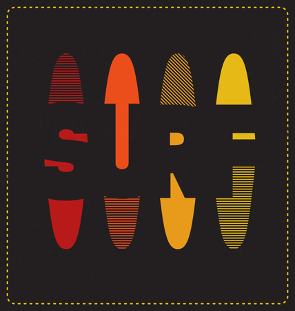 screen print: Surf - Typographic Design - Classic look ideal for screen print shirt design
