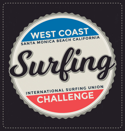 screen print: Surfing - Typographic Design - Classic look ideal for screen print shirt design