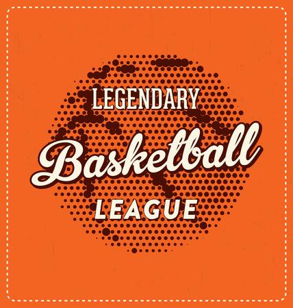 screen print: Legendary Basketball League - Typographic Design - Classic look ideal for screen print shirt design