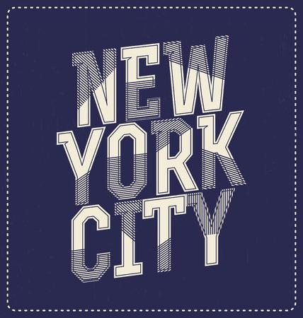 new york: New York City - Typographic Design - Classic look ideal for screen print shirt design