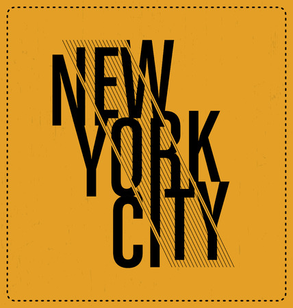 new look: New York City - Typographic Design - Classic look ideal for screen print shirt design