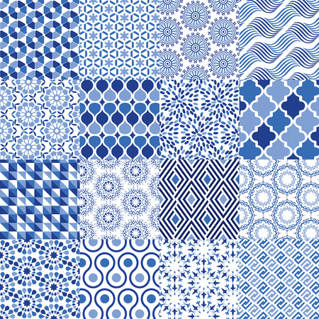 Universal Vector Pattern Set - Can be used as mixed pattern background Vectores