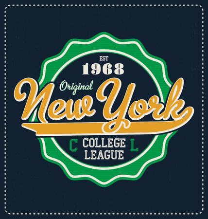 screen print: New York - Typographic Design - Classic look ideal for screen print shirt design Vettoriali
