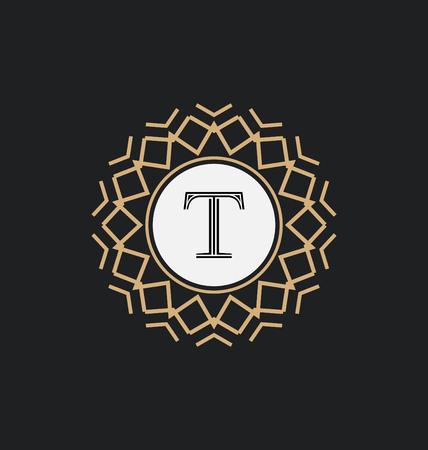classic style: Calligraphic Monogram Design Template - Classic Ornamental Style