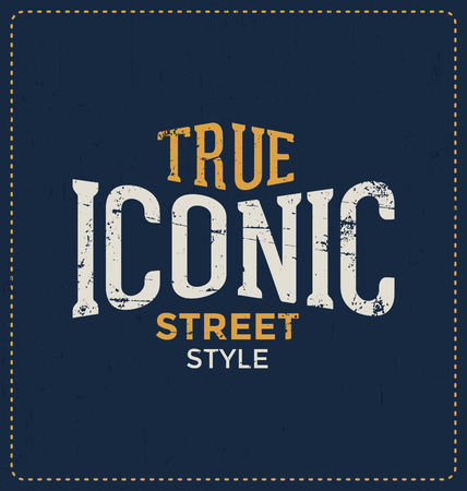 true: True Iconic Street Style - Typographic Design - Classic look ideal for screen print shirt design
